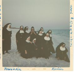 1966: The Sisters from St. Joseph in Mobile AL and a few Sisters of Charity enjoy a day at the beach in Pensacola, FL.