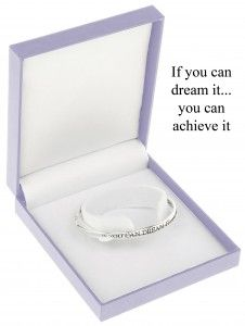 If you can dream it…you can achieve it – Silver Plated quote bangle