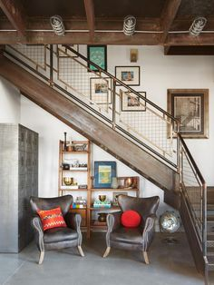Anthony Carrino utilized every space in his renovated loft, even under the stairs. #hgtvmagazine http://www.hgtv.com/design/decorating/design-101/anthony-carrinos-dream-loft-pictures?soc=pinterest