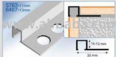 Square edge tile trim, bathroom tile trim, tile edging, tile profile, edging trim