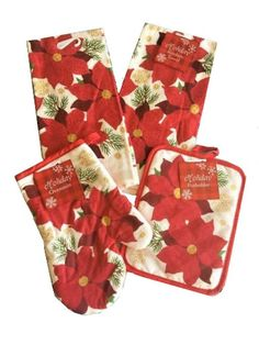 Kitchen Towels for Holiday Entertaining Oven Mitt Nantucket Home Valentines Day Kitchen Pot Holder Gifts and More