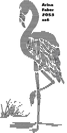 Flamingo Rhinestone Transfers, Embroidery Transfers, Appetizer Dips, Bead Art, Disney Art, Flamingo, Art For Kids, Stitches, Canvas Art