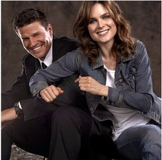 Bones. Booth and Brennan are sooo cute together!
