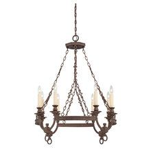 View the Savoy House 1-6744-8 Craftsman / Mission 8 Light Chandelier from the Bastille Collection at LightingDirect.com.