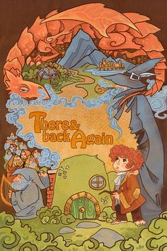 There and Back Again fantasy lit poster by theGorgonist on Etsy, $20.00 cute for a kid room