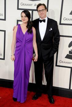 Bob Saget and Lara Saget at the 2014 Grammy Awards.