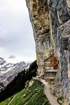 Berggasthaus Aescher-Wildkirchli Cliff-Side Restaurant