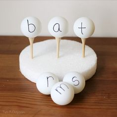 What a great hands-on literacy activity to try! Teaching word families with ping pong balls!