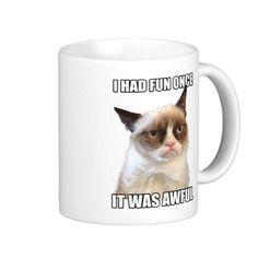 Grumpy Cat -  Grantige Katze Becher Teehaferl #GrumpyCat #Becher 11,65 €