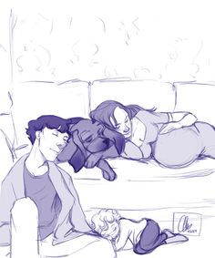 @adi-who-is-also-mou requested Sherlock, Molly, Rosie, and Toby (the dog) together. I'm feeling really tired today, so I figured they would be too, considering there's one more of them than you asked...