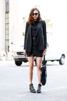 Street style: How to wear black in summer