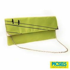 Birds on the line: Lime-green clutch. For details and orders, please email us at picselsce@gmail.com