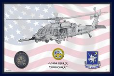 Mh60 Drawing - The Night Stalkers Blue by Nicholas Linehan