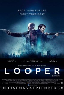 "In the year 2042, a man working for a group of killers called ""Loopers"" (they work for the mob and kill people who are sent blindfolded back in time from the year 2072 by their bosses) recognizes a victim as himself. He hesitates resulting in the escape of his older self."