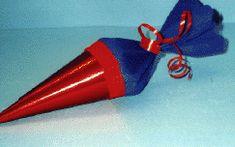 Minischultüte für den Schulanfang basteln