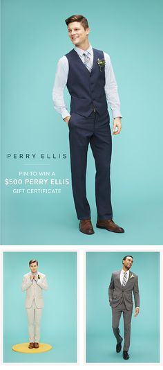 Menswear maven Perry Ellis is a staple when it comes to dressing your groom and his guys for the big day, and right now, they're hosting a pretty fabulous Pin to Win contest we're super excited about! And the grand prize? A $500 gift certificate to Perry Ellis! How amazing is that?! See below for all the… #veryhitched
