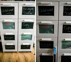 the bird song - uk lifestyle and beauty blog: IKEA BRIMNES Hack | Chalkboard Drawers