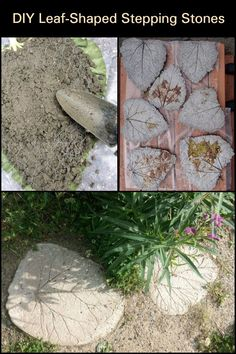 This Project Lets You Create Unique Leaf-Shaped Stepping Stones For Your Garden!