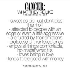 #Cancers I only wish the money part was true.. :D