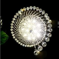 Crystal raindrop ceiling chandelier – Oukaning LED