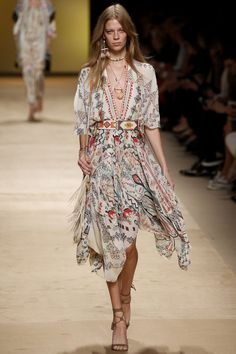 Etro womenswear, spring/summer 2015, Milan Fashion Week
