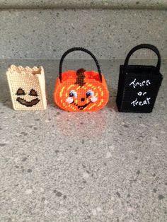 Items similar to Handmade Plastic Canvas Halloween Tiny Treat Baskets on Etsy Halloween Baskets, Halloween Arts And Crafts, Halloween Treat Bags, Halloween Stuff, Plastic Canvas Christmas, Plastic Canvas Crafts, Plastic Canvas Patterns, Baby Boy Crochet Blanket, Crochet Baby Hats