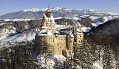 Dracula's Castle during winter, Romania. #dracula #winterholiday