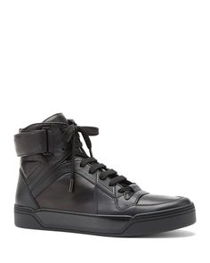 Gucci New Basketball Velcro High Top Sneakers