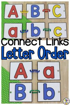 Are you looking for a fun way for your preschoolers and kindergartners to practice letter order and work on their fine motor skills? In this Connect Links Letter Order Activity, your kids will work on putting capital and lowercase letter in order as they develop hand and eye coordination, muscle strength, and much more! Click on the picture to get the free letter recognition activity printables for your preschoolers! #letterrecognition #preschool #letterorder #finemotoractivity… Pre Reading Activities, Fine Motor Activities For Kids, Alphabet Activities, Classroom Activities, Kids Motor, Learning Activities, Teaching The Alphabet, Learning Letters, Abc Learning