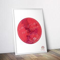 Poster home decor graphic design quote la vie est belle decoration