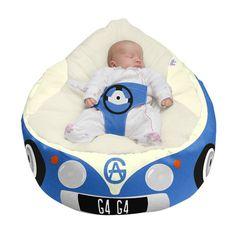 Royal Blue Luxury Cuddle Soft Iconic Campervan Gaga© Baby Bean bags