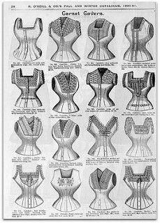 1890-91 Vintage Fashion: H.O'Neills Fall & Winter Catalogue Page 28 - Victorian Corset Covers | by CharmaineZoe's Marvelous Melange