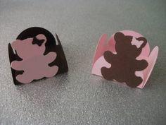 25 Forminhas doces Ursos Marrom e Rosa | Borboletinha Carioca | Elo7