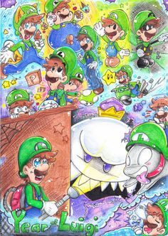 Year of Luigi by PaperLillie.deviantart.com on @deviantART