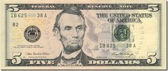 """Randomly tape one $5 bill to the bottom of some """"LUCKY"""" person's dinner plate for St. Patrick's Day."""