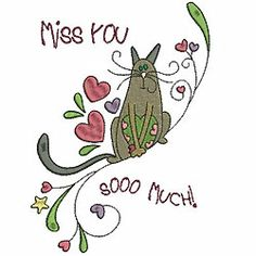 Cat lovers will enjoy these funky Kute Katz designs from Allstitch! Use them for t-shirts, tote bags, book covers, Valentine cards and any gift item for a fellow feline fanatic. There are four extra phrases included with your download to use with the designs.