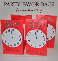 New Year's Party Favor Bags