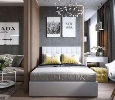 + 43 Whatever They Told You About Master Bedroom Design Layout Photo Galleries Is Dead Wrong 59 Condo Interior Design, Studio Apartment Design, Small Space Interior Design, Small Apartment Design, Condo Design, Studio Apartment Decorating, Small Room Design, Apartment Layout, Modern Bedroom Design