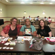Late Night Stamper events before Convention  2014 Radisson SLC Utah 3 friends making Penny and Tami's stamp camp project
