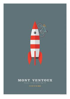 Mont Ventoux Cycling Poster Cycling Hill Climb