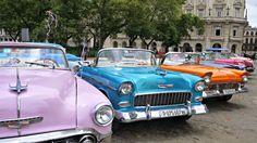 Colourful classic cars in Havana Cuba