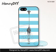 Phone Cases, iPhone 5/5S Case, iPhone 5C Case, iPhone 4/4S Case, giraffe Phone covers, Skins, Case for iPhone~H-084