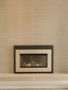 Contemporary Spaces Fireplace Wall Tile Design, Pictures, Remodel, Decor and Ideas - page 4