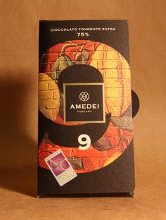 Amedei - 9 Types Of Chocolate, Dark Chocolate Bar, How To Make Chocolate, Box Packaging, Packaging Design, Fruit Sec, Chocolate Packaging, So Little Time, Cocoa