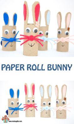 DIY Easter Crafts : DIY Paper Roll Bunny Craft for Kids