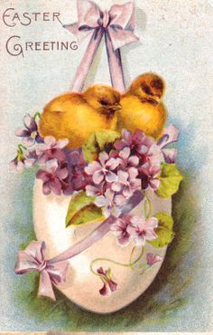 1/10/15 SATURDAY - Saw some great VINTAGE EASTER POSTCARDS at the Glendale Postcard Show.