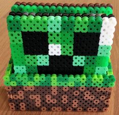 Set of 4 Minecraft Coasters with Optional Holder by IMeltBeads