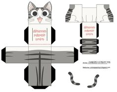 Pets, Home & Garden: Ideal toys for small cats 3d Paper Crafts, Cat Crafts, Paper Toys, Diy Paper, Chi's Sweet Home, Paper Cube, Ideal Toys, Danbo, Paper Animals