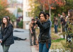 "The Walking Dead Season 7 Episodic Photos - Enid (Katelyn Nacon), Maggie Greene (Lauren Cohan) and Paul ""Jesus"" Monroe (Tom Payne) in Episode 16 Photo by Gene Page/AMC"
