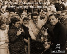 Gary Player after his 1968 British Open victory